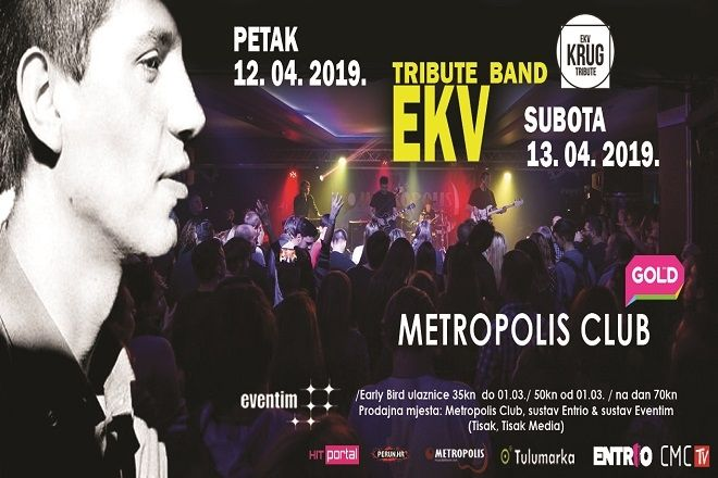 TRIBUTE BAND EKV - Zagreb, Metropolis, 12.04.2019.