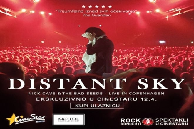 NICK CAVE & THE BAD SEEDS 'Uživo u Kopenhagenu' ekskluzivno 12.04.2018. u Cinestaru i Kaptol Boutique Cinema