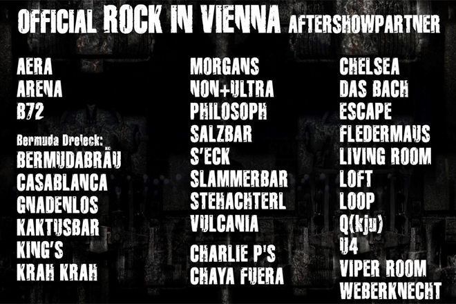 ROCK IN VIENNA festival afterparty(s)... X30