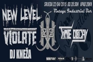 GOOD VIBRATIONS - New Level / Violate / 23 / Time Decay / DJ Kneža - osvoji ulaznicu!