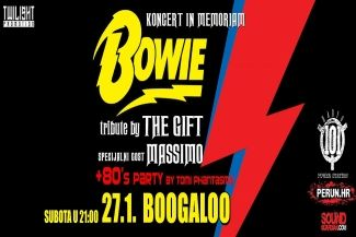 Koncert in memoriam David Bowie - The Gift + Massimo 27.01.2018. Boogaloo - OSVOJI UPAD