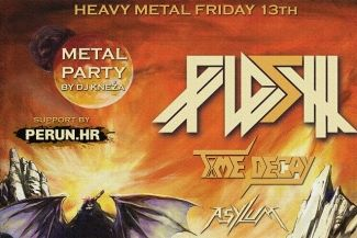 FLESH, Time Decay, Asylum & heavy metal party by dj Kneža - osvoji ulaznicu!
