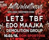 Antivalentinovo 3 - Let3, TBF, Edo Maajka, Demolition Group - Zagreb, Dom Sportova - 10.2.2018.
