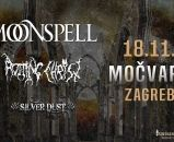 MOONSPELL, ROTTING CHRIST, SIVER DUST 18.11.2019., Močvara, Zagreb