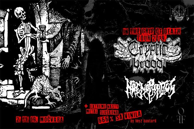 CRYPTIC BROOD & HAEMOPHAGUS, 02.11.2019., Močvara, Zagreb