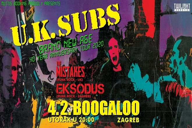 UK SUBS, 04.02.2020., Boogaloo, Zagreb