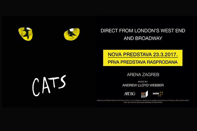 CATS MUSICAL - Zagreb, Arena, 23.03.2017.