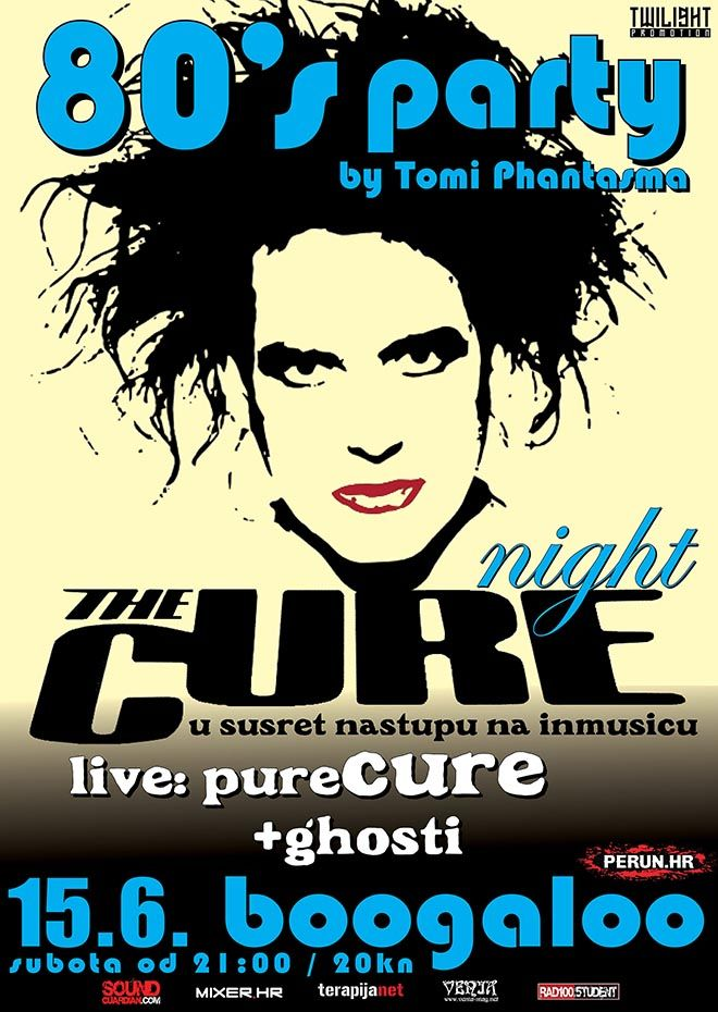 80'S PARTY - THE CURE NIGHT, 15.06.2019., Boogaloo, Zagreb