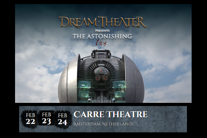 DREAM THEATER u Carre Theatru u Amsterdamu (Nizozemska) 22. - 24.02.2016.