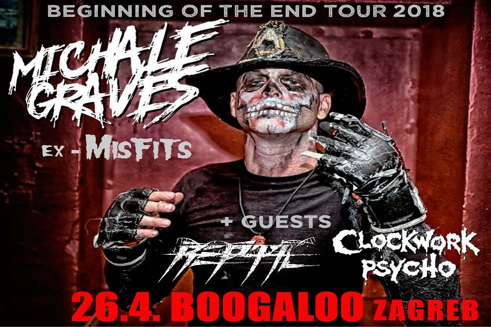 Michale Graves ex Misfits, 26. 04. 2018., Boogaloo, Zagreb