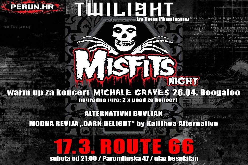 'Twilight Misfits Night' Michale Graves warm up, 17.03.2018., Route 66, Zagreb