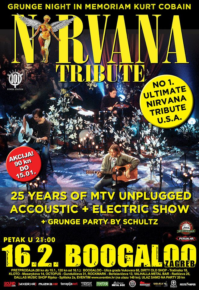 Grunge night in memoriam Kurt Cobain - Boogaloo, 16.02.2018.