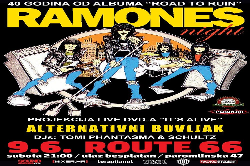 RAMONES night i Alter Buvljak 09.06.2018., Route 66, Zagreb