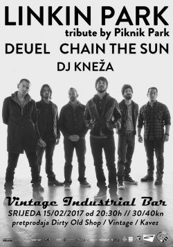 Linkin Park tribute / Deuel / Chain The Sun / DJ Kneža // GVs05e12 u Vintage Industrial Bar-u 15.02.2017.