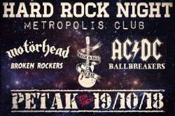 HARD ROCK NIGHT, 19.10.2018., Metropolis, Zagreb
