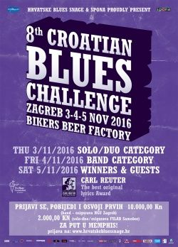 8th Croatian Blues Challenge u BBF-u 04. - 05.11.2016.