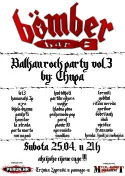 Balkan rock party vol.3 by Chupa u Bomber baru 25.04.2015.