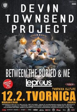 Devin Townsend Project / Between The Buried & Me / Leprous u Tvornici kulture 12.02.2017.