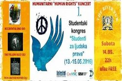 Humanitarni HUMAN RIGHTS koncert (ACCIDENTAL ONE, THE YELLOW BUZZ, FROM ANOTHER MOTHER) u River Pubu 14.05.2016.