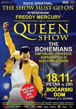 ''THE SHOW MUST GO ON - THE QUEEN SHOW'' u Boćarskom Domu 18.11.2016.