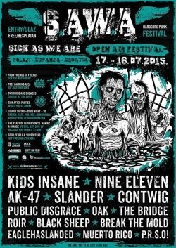 Sick As We Are 2015 - Hardcore Punk Festival