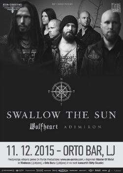 SWALLOW THE SUN, WOLFHEART & ADIMIRON u Orto Bar-u 11.12.2015.