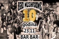 BAD MUSHROOMS 23.11.2018., BarBar, Zagreb