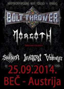 BOLT THROWER + MORGOTH + INCANTATION
