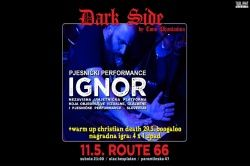 Dark Side pjesnički performance Ignor i Christian Death Warm Up - Zagreb, Route 66, 11.05.2019.