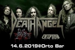 DEATH ANGEL, Evil Invaders - Slovenija, Ljubljana, Orto Bar, 14.06.2019.