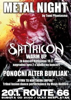Metal night Satyricon warm up 20.01.2018. u zagrebačkom Route 66