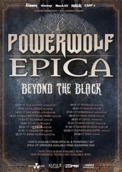 EPICA and POWERWOLF @ Barba Negra 22.01.2017.