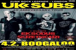 UK SUBS, 04.02.2018., Boogaloo, Zagreb