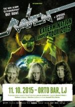 Raven (UK) + support u Ljubljani, Orto Bar 11.10.2015.