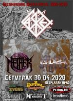 CASKET, Nether & Infidelic Affliction 30.04.2020. - Zagreb, Hard Place