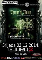 THRONE OF MOLOK + ABGOTT + CYBER HATE
